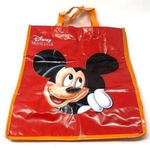 🌺 Disney Mickey Mouse Red Movie Club Tote NEW